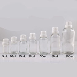 Clear Essential Oil Glass Bottles