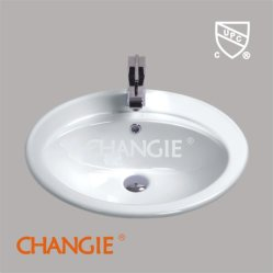 1001 Drop In Basin, Top Sink, Changie Ceramic Factory (1001)