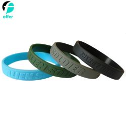 Promotion Custom Embossed Rubber Silicone Wristbands