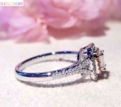 Fashion 925 Sterling Silver Engagement Ring Jewelry Manufacturer in China