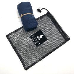 Custom Black Mesh Drawstring Bag Poly Mesh Net Wash Bag Nylon Mesh Laundry Bag with Label