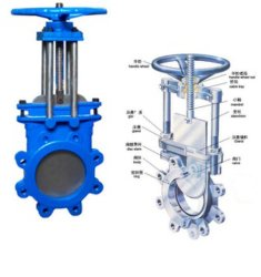OEM Raised Face Flange Safety Knife Slurry Gate Valve