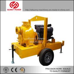 High Head Slurry Pump Long Bearing Life Diesel Water Pump