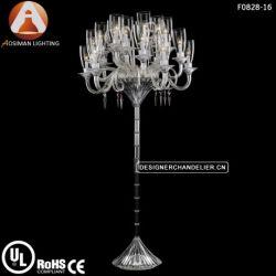 Baccarat Style Crystal Chandelier Floor Lamp
