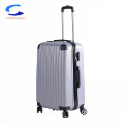 4880c992c5 2018 New Design Silver Grey 24   PC Shell Hardside Vertical Stripe Trolley  Luggage with