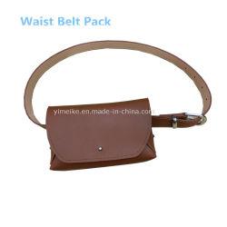 Outdoor Sports Running Waist Bag Leather Belt Pack