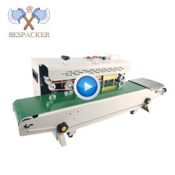 Continuous Plastic Bag Sealing Machine with Conveyor Belt