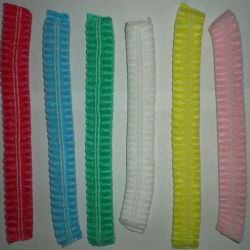 Disposable Bouffant Pleated Caps, 24 Inch, Blue for Cosmetics, Beauty, Kitchen, Cooking, Home Industries, Hospital