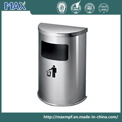 Arched Heavy Metal Garbage Storage Bin for Outdoor Use