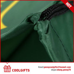 Eco-Friendly Sports Silkscreen Drawstring Bag for Advertising and Promotion Gift