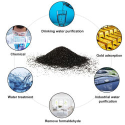 Wear-Resistant Uniform Particle Size Coconut Shell Golden Carbon in Granular