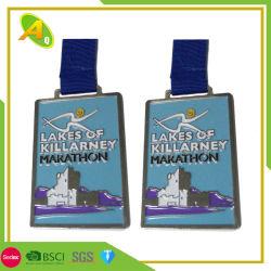 Wholesale Cheap Metal Craft Blank Casting Zinc Alloy Soft Enamel Design Your Own Custom Gold Running Racing Award Sport Marathon Medal for Souvenir Gift (001)