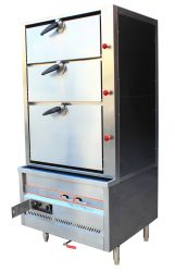 Gas Triple Door Environmental Steam Cabinet (solenoid Safety Valve)