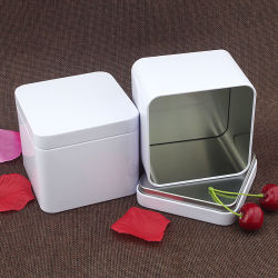 Square Metal Tin Box for Sweets Coffee Cookie Chocolate