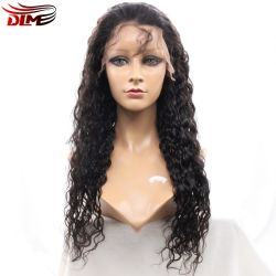 Full Lace Front Wavy Natural Hair Wig for Black White Women Lady