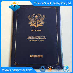 Custom Big Size Foil Stamp Logo Diploma Certificate Folder