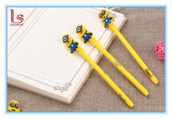 High Quality Silicone Small Yellow People Promotional Pen