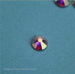16 Facet Cut 5A Imitation Swaro Preciosa Strass Stone Flatback Hot Fix Crystal Rhinestone (HF-ss16 crystal ab/5A grade)