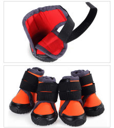 Fashion Luxury Pet Boots Dog Shoes Reflective Magic Tape Dog Product