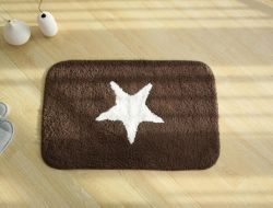 Brown Bath Mats and Pedestal Mats Square Bath Mat