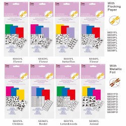Double-Side DIY Sticker Flocking Transfer Kit for Card Making
