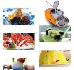 Ice Crusher Machine 2-Blade Full Stainless Steel Smoothie Ice Shaved Ice Chopper