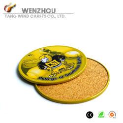Custom Tin Cup Coasters Mat, with Anti-Slip Base
