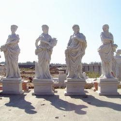 Superbe Decorative Garden White Marble Four Seasons Statues Price