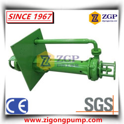 Vertical Long Shaft Semi-Submersible Sewage Sump Centrifugal Slurry Pump