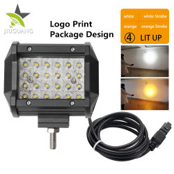 Wholesale Offroad Truck Dual Color Strobe Flash Light 12D Reflector 4 Row  30W LED Driving 4