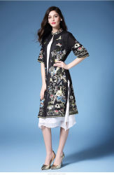 fdeba234e New Chinese Style Cheongsam for Ladies Bodycon Sexy Mini Party High Neck  Dress