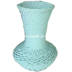 Eco-Friendly Hand-Painted Flower Wicker Vase with Customized Color