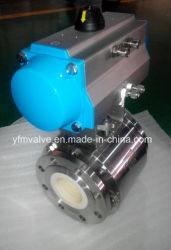 Pneumatic Ceramic Ball Valve for Slurry F304