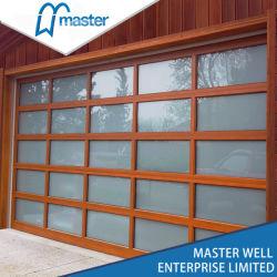 Aluminum Tempered Glass / PC Sheet / Mirrored Glass Garage Door