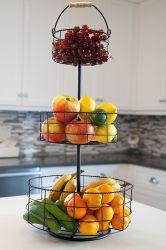 Kitchen Kd Packing Dismountable 3 Tiers Metal Fruit Basket