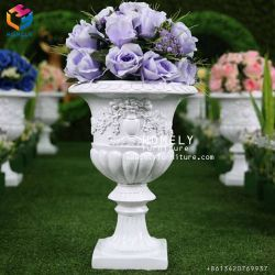 Marble Carving Flower Pot Road Lead for Garden