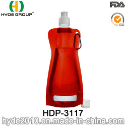 480ml Squeezable Reusable Foldable Plastic Sport Water Bag (HDP-3117)