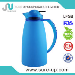 Blue Plastic Glass Inner Coffee Thermos Water Vacuum Jug (JGGW)