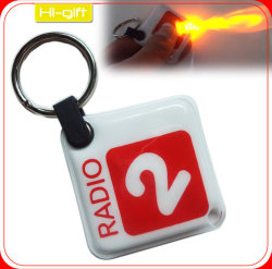 Custom Full Color LED Key Ring / LED Keychain Light