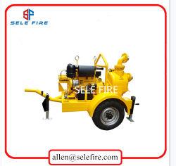 Waste Water Transfer High Efficiency Sewage Pump Diesel Engine Driven Self Priming Slurry Pump