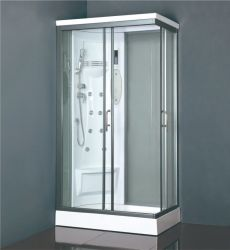 Small Size 70*90 Square ABS Wall Panel Sliding Door Shower Box with Shower Seat