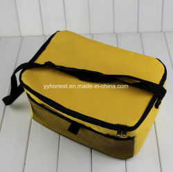 Promotional 600d Polyester Thermal Insulated Cooler Bag with Mesh Pocket