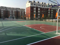 New Materials of Outdoor PVC Sports Flooring for Basketball, Tennis, Tracking Sports Playground