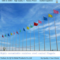 High Precision Outdoor Tapered Flag Pole of Stainless Steel Material