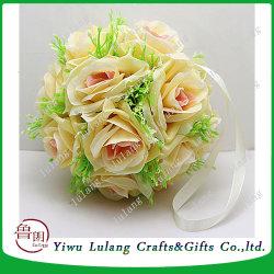China artificial flower ball artificial flower ball manufacturers decorative artificial silk round rose hanging flower balls for wedding mightylinksfo