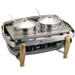 Stainless Steel Kitchen Equipment Chafing Dish with Glass Lid Wholesale