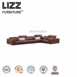 High Quality Good Sale Italian Design L Shape Corner Leather Sofa