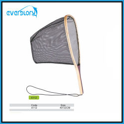Hot Selling Wood Grip Fly Fishing Net Fishing Tackle Landing Net