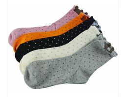 Women's Cotton Socks with Comfortable Quality (QY02)
