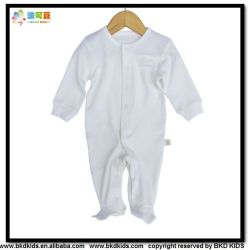 Plain Dyed Baby Wear Long Sleeve Infant Playsuit